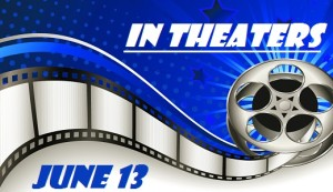 Background with Film Reel - In Theaters - June 13