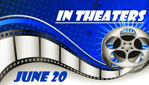 Background with Film Reel - In Theaters - June 20